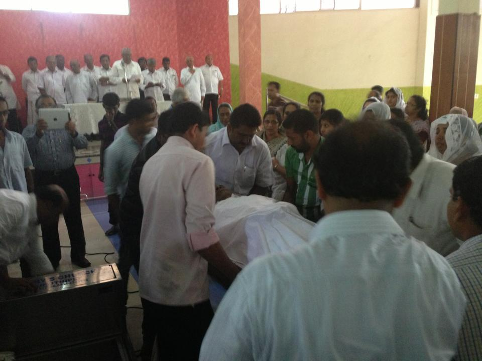 TS Balan Funeral Pictures (Source: Facebook)